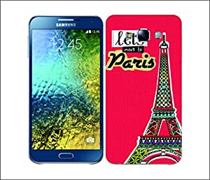 Galaxy Printed 1818 Aztec Doodle Effiel Tower Hard Cover for Samsung ACE 3 (7272)