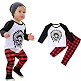 Susenstone 1Set Infant Toddler Baby Boys Printed T-shirt Tops+Pants Outfits Clothes (70)