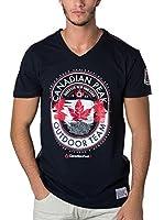 CANADIAN PEAK Camiseta Manga Corta Jeineken (Azul Marino)