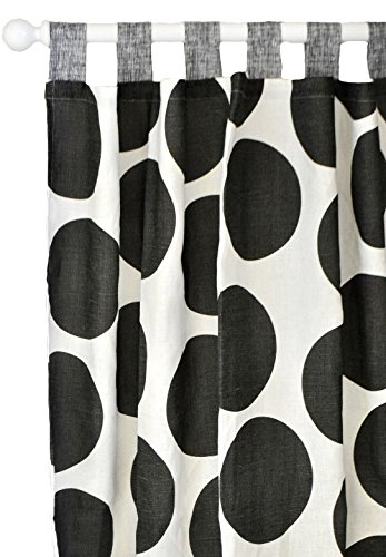 New Arrivals Curtain Panels, Spot On in Charcoal, 2 Count