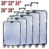 CSTOM-Transparent-Koffer-Schutzhlle-Kofferbezug-Kofferschutz-L-28-Bags-47-50cm-L-x-29-31cm-W-x-65-72cm-H