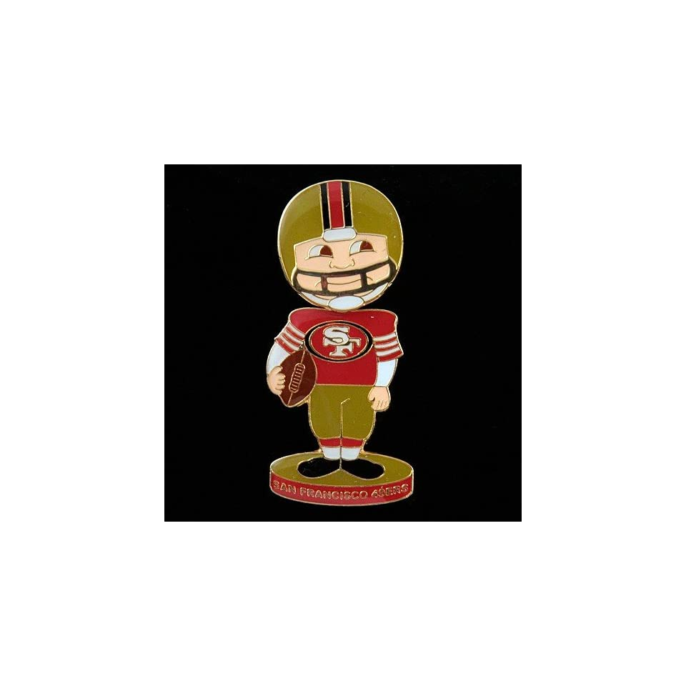 NFL San Francisco 49ers Bobblehead Football Player Pin