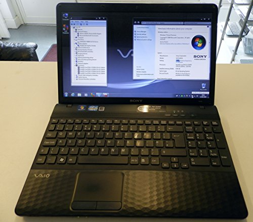 Sony vaio vpceh2f1e 155 inch notebook pc core i5 2520m 250 ghz 8gb 640gb dvdrw wlan hd graphics webcam windows 7