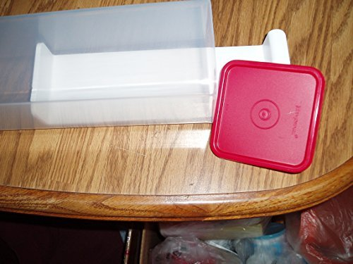Tupperware Cheese Keeper Clear with Popsicle Red Seal (Cheese Tupperware compare prices)