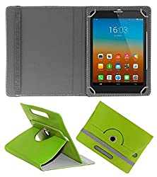 Gadget Decor (TM) PU LEATHER Rotating 360° Flip Case Cover With Stand For Tescom Bolt 3 - Green