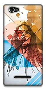 The Racoon Grip Wild hard plastic printed back case / cover for Sony Xperia M