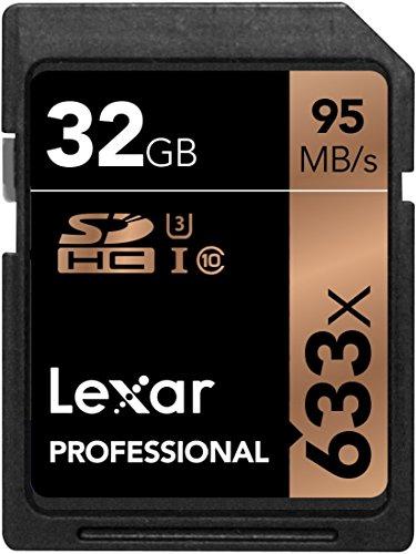 Lexar Professional 32GB 633x SDHC Class 10 UHS-I Memory Card - LSD32GCBEU633