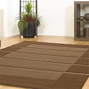 Flair Rugs Visiona Soft 4311 Rug, Brown, 200 x 290 Cm by Flair Rugs
