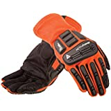 Ansell ActivArmr 97-200 Digital Goat Skin Leather Flame Resistant/Impact Protection HVAC Glove, Abrasion/Cut Resistant, (Pack of 1 Pair)