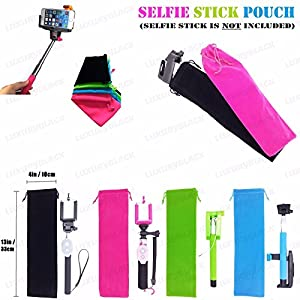 green compact carrier bag for selfie stick monopod travel cute pouch velvet sleeve. Black Bedroom Furniture Sets. Home Design Ideas