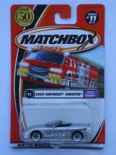 Matchbox 2002-11/75 Style Champs 2000 Chevrolet Corvette 50 Years 1:64 Scal - 1
