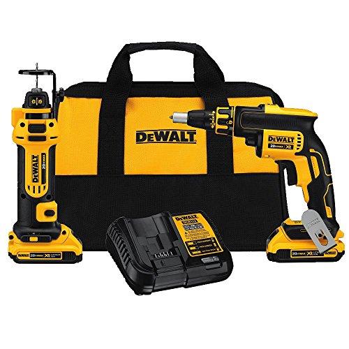 DEWALT-DCK263D2-20V-MAX-XR-Li-Ion-Cordless-Drywall-Screwgun-and-Cut-out-Tool-Kit