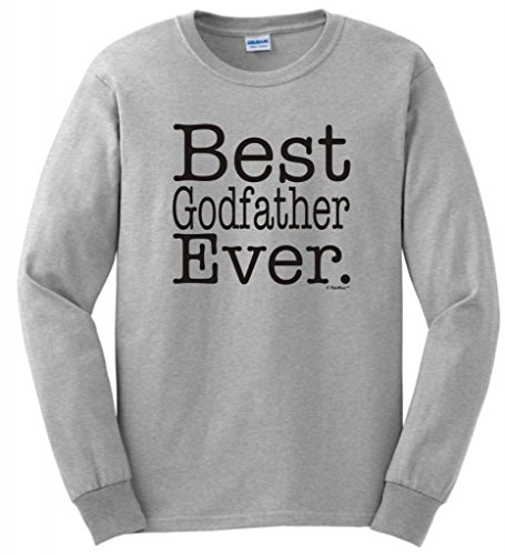 Best Godfather Ever Long Sleeve T-Shirt Small Ash front-774225
