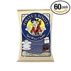 Booty, Aged White Cheddar, 0.5-Ounce Bags (Pack of 60): Amazon.com