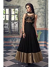 London Beauty Black Designer Anarkali Suit