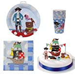Pirate Party Paper Set (8 plates, 8 cups, 20 napkins, 1 cake pop-up)