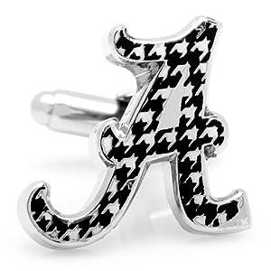 NCAA University of Alabama Houndstooth Cufflinks Crimson Tide Cuff Links by NCAA