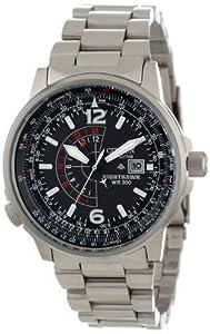 "Citizen Men's BJ7000-52E ""Nighthawk"" Stainless Steel Eco-Drive Watch from Citizen"
