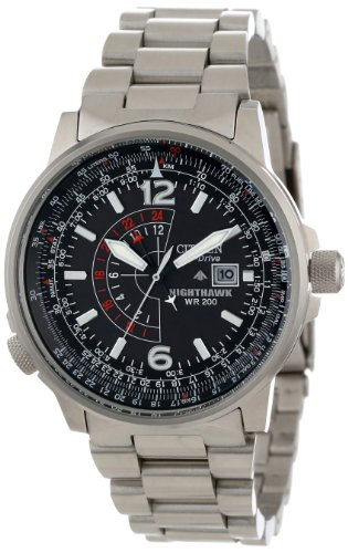 "Details for Citizen Men's BJ7000-52E ""Nighthawk"" Stainless Steel Eco-Drive Watch"