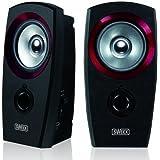 Sweex USB 2.0 Speaker Set - Black/Red