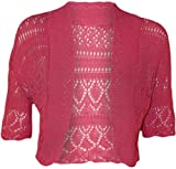 MyMixTrendz - Womens Crochet Knit Midi Sleeve Bolero Shrug