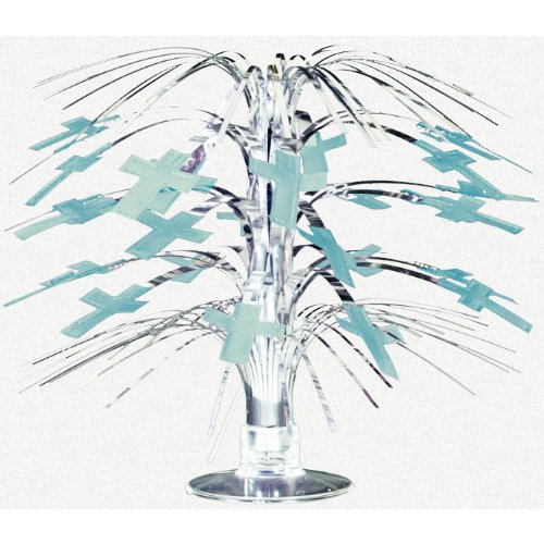 Amscan - Blue Mini Cross Cascade Centerpiece - Standard