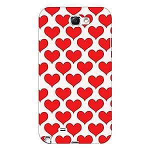 Jugaaduu Hearts Back Cover Case For Samsung Galaxy Note 2 N7100