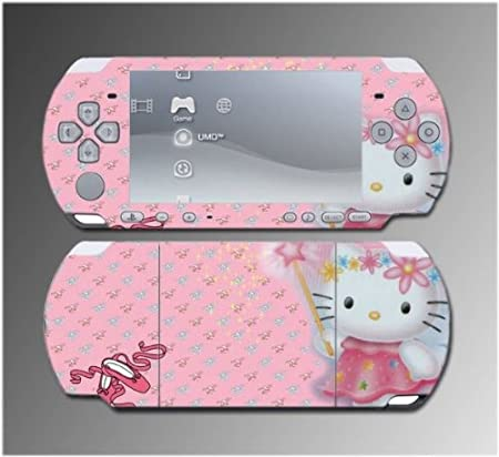 Cute Kitty Princess Wand Pink Dress Girl Dress Game Vinyl Decal Sticker Cover Skin Protector Sony PSP Slim 3000 3001 3002 3003 3004 Playstation Portable