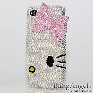 3D Swarovski Luxury Crystal Bling Case Cover for iphone 4
