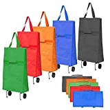 #10: New Collapsible Folding Shopping Trolley Bag Fold As a Bag Light (RANDOM COLOR)