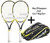 Babolat Drive Z lite Racquet & Babolat Aero Line Racquet Holder X 12 (Black/Yellow) - Combo