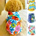 Silvercell Pet Puppy Summer Hawaiian T Shirt Beachwear Costume