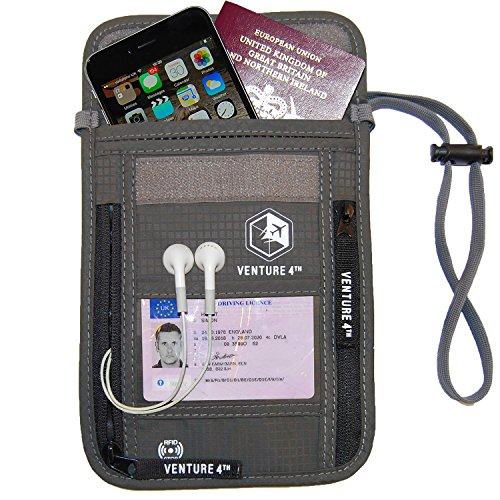 01. Venture 4th Travel Neck Pouch with RFID Blocking