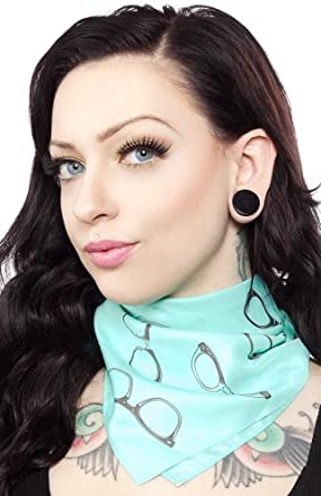Sourpuss Glasses Rosie Square Scarf at Amazon Women's Clothing store