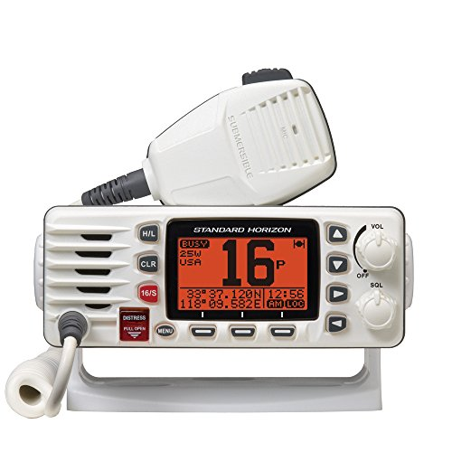 Standard Horizon GX1300W Eclipse GX1300B Fixed Mount VHF Radio (White)