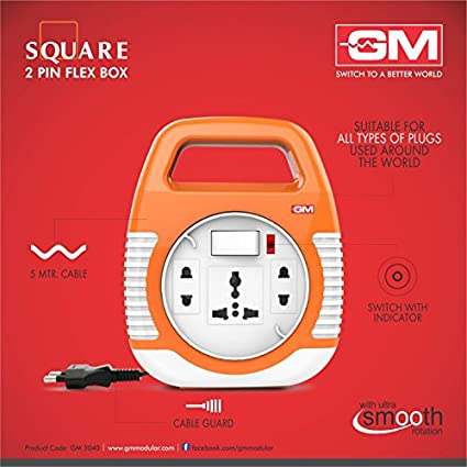 Goldmedal-3040-SQUARE-2-PIN-3-Strip-Flex-Box-(5-mtr)