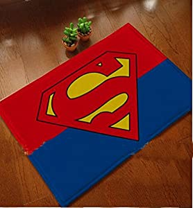 Superman Mats Cover Non Slip Machine Washable