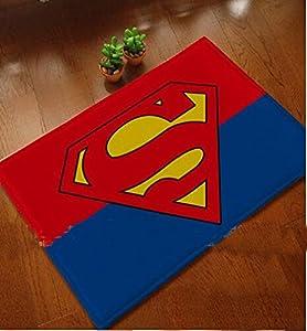 Superman Mats Cover Non Slip Machine Washable Outdoor Indoor Bathroom Kitchen Decor