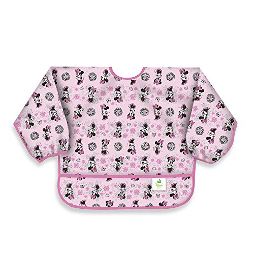 Disney Baby Minnie Mouse Pink Waterproof Long Sleeved Bib from Bumkins (Disney Baby Food compare prices)