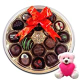 Valentine Chocholik Premium Gifts - Adorable Collection Of Chocolates With Teddy
