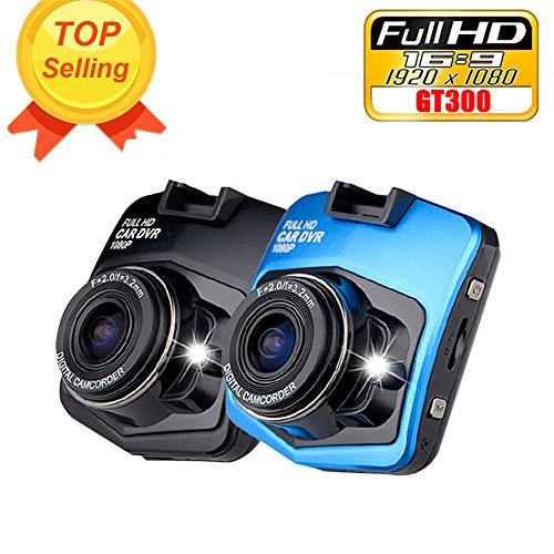 Topmaile Mini Car DVR Camera GT300 Dashboard 1920x1080 Full HD 1080p Video Registrator Recorder G-sensor Night Vision Dash Cam(Blue) (Car Mini Dashboard Camera compare prices)
