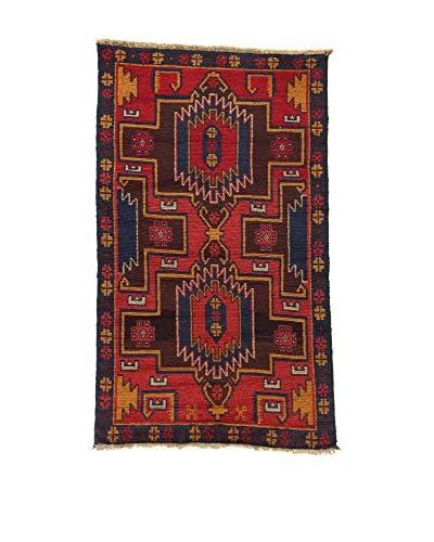 L'EDEN DEL TAPPETO Teppich Beluchistan rot/mehrfarbig 85 x 142 cm