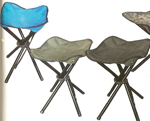 Four Legged Folding Camp Stool With Carry Sleeve And