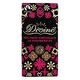 Divine Chocolate Dark Choc with Raspberries 100g