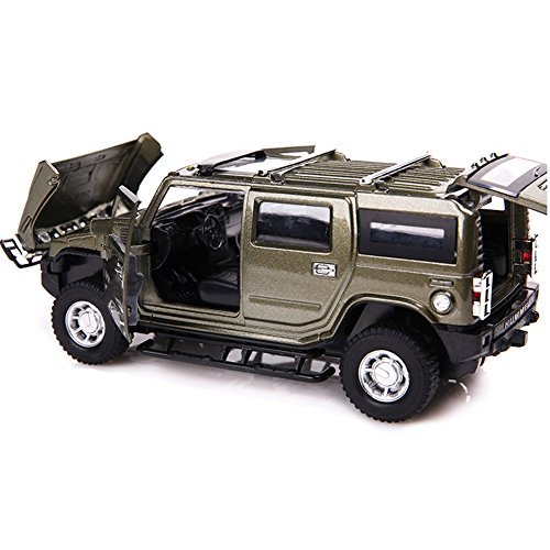 1/32 Scale Hummer H2 Model Alloy Diecast car Kits (Pull back Car) for Kids Gray (Hummer Scale compare prices)
