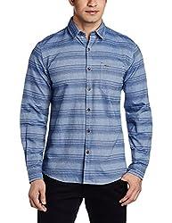Wrangler Men's Casual Shirt (8907222642723_W14811945150_Medium_Blue)