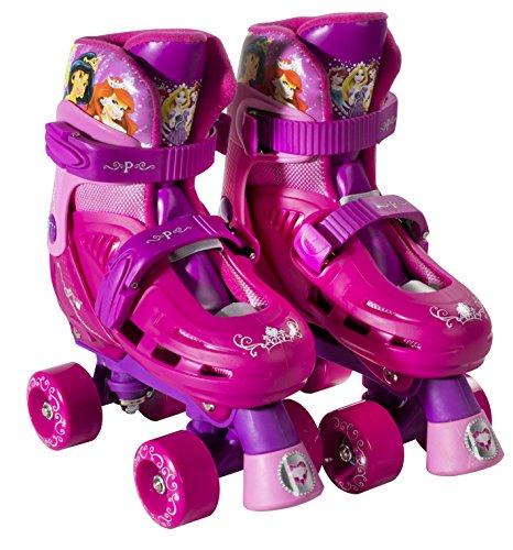 PlayWheels Disney Princess Kids Classic Quad Roller Skates - Junior Size 10-13 (Quad Roller Skating compare prices)