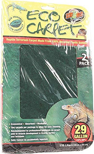 Zoo Med Reptile Cage Carpet for 20-Inch Long 29 Gallon Tanks, 30 x 12-Inches