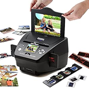 3-in-1 Digital Photo / Negative Films / Slides Scanner with built-in 2.4 LCD Screen