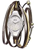 Opex - X2341LD4 - Filante - Montre Femme - Quartz Analogique - Cadran Argent - Bracelet Cuir Multicolore